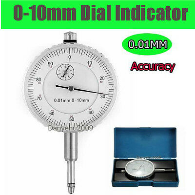 Quality Dial Indicator Gage Metric 0-10MM Outer Measuring 0.01mm Accuracy Clock