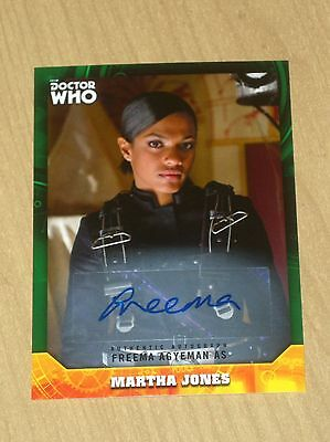 2017 Topps Doctor Who signature GREEN autograph Freema Agteman 47/50