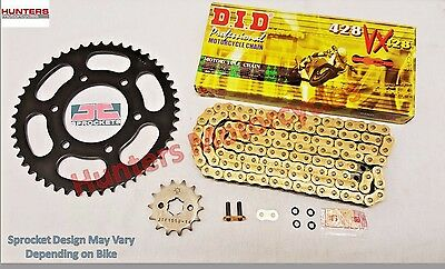 Yamaha WR125X (2009 to 2015) DID Gold X-Ring Chain & JT Sprocket Kit Set