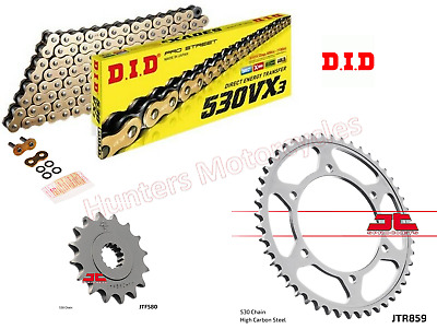 Yamaha FZR1000 Exup DID Gold X-Ring Heavy Duty Chain & JT Sprockets Kit Set