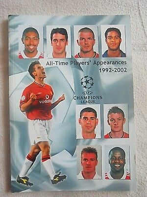 1992-2002 Champions League All-Time Players Appearances Official Magazine