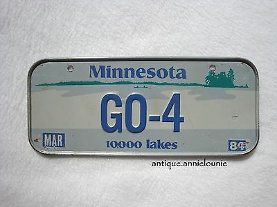 1984 MINNESOTA Post Cereal License Plate # GO-4