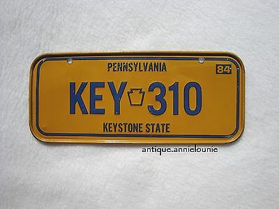 1984 PENNSYLVANIA Post Cereal License Plate # KEY 310