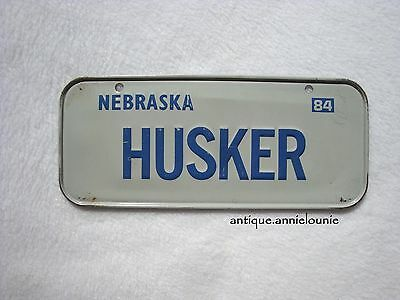 1984 NEBRASKA Post Cereal License Plate # HUSKER