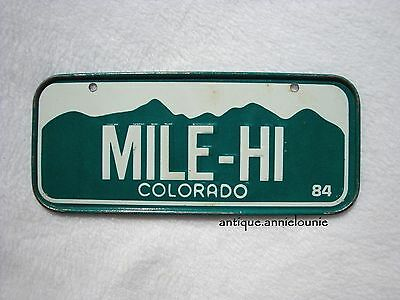 1984 COLORADO Post Cereal License Plate # MILE-HI