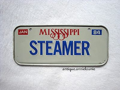 1984 MISSISSIPPI Post Cereal License Plate # STEAMER
