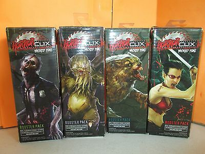 Wizkids Horror Clix Lot of 4 SEALED Booster Packs