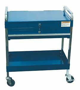 Sunex 8013ABL Service Cart w/Locking Top and Locking Drawer-Blue