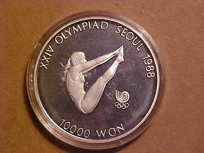 South Korea 1987 Olympics, Silver 10,000 Won, Proof