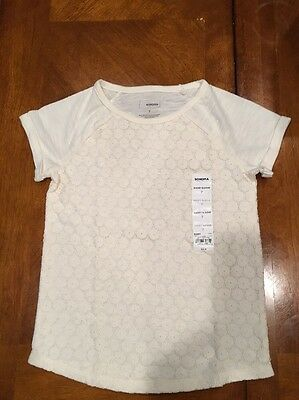 Adorable Girl's Sonoma Short Sleeve T-shirt New With Tags NWT Size 7 LOOK!!!