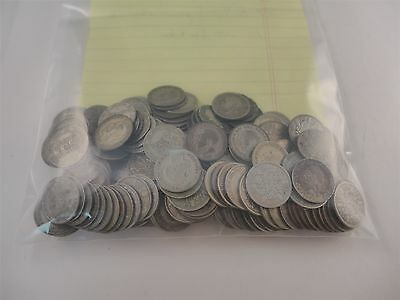 Great Britain Sixpences Lot of 189 1920-1936 .500 Fine Silver