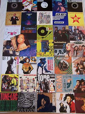 "Collection Of Hip Hop House Rap Electronica  7"" Singles  X 36 + Poster"
