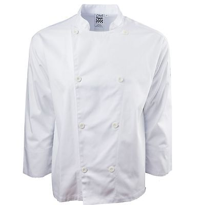 Chef Revival J200-L Performance Large White Long Sleeve Chef Jacket