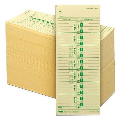Tops single-sided time card non-specific days, 3-1/2 inch x 9 inch 500 count