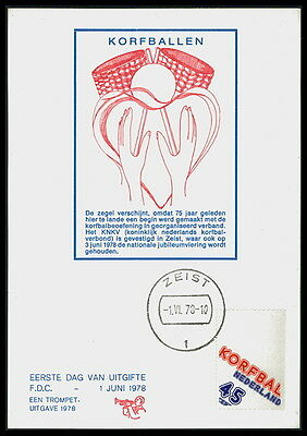 NL MK 1978 KORBBALL BASKETBALL MAXIMUMKARTE CARTE MAXIMUM CARD MC CM bd65