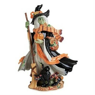 New Fitz & Floyd Halloween Harvest Witch Figurine