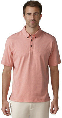 Ashworth Sanded Jersey Mini Stripe Golf Shirt Polo
