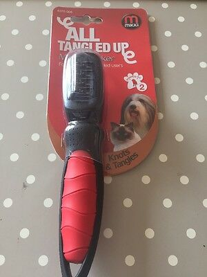 Mikki Matt Breaker for Removing Knots and Tangles from Dog and Cat Coats All Up