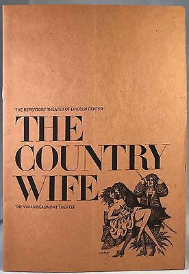 "Stacy Keach, ""The Country Wife"" - Vivian Beaumont Theatre Playbill 1966"