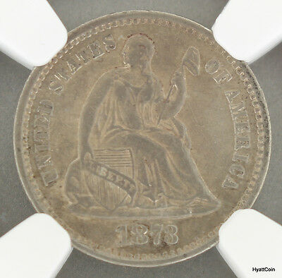 1873-S Seated Liberty Silver Half Dime H10C NGC AU Details