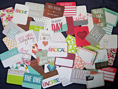 """'prismatic' Project Life Cards By Becky Higgins - 3"""" X 4"""" - 46 Cards"""