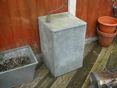 Vintage galvanised water tank