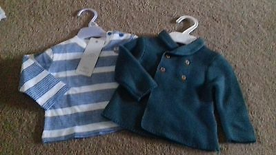 BRAND NEW - BUNDLE OF BOYS CLOTHES - 0-3 MONTHS -  @ box - MARKS AND SPENCER