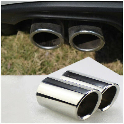 Silver Stainless Steel Exhaust Muffler Outlet Tip Pipe for Golf MK7 13-14 VW