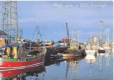 Scotland Postcard - Caithness - Reflections at Wick Harbour    AB2560