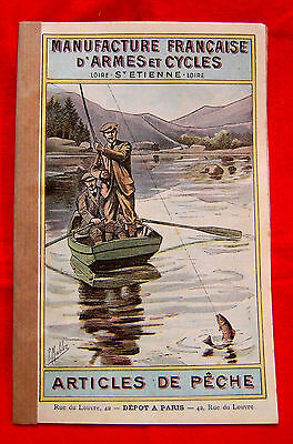 RARE MANUFRANCE de 1903 Ancien Catalogue PECHE MOUCHE TRUITE MOULINET FISHING