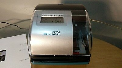 Acroprint ES700 Digital Multifunction Time Clock Timeclock Stamp Recorder.