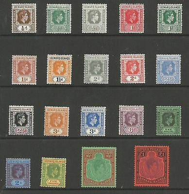 LEEWARD IS SG95-114b THE 1938-51 GVI SET OF 19 MOUNTED MINT CAT £200 MINIMUM