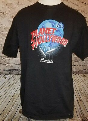 Vintage Planet Hollywood Honolulu T Shirt 1995 Official Black Xl Excellent Cond