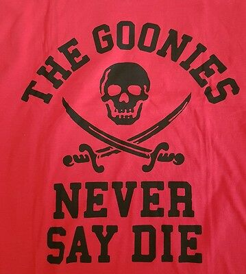 Goonies Never Say Die Mens 3XL T-shirt May 2017 Loot Crate Exclusive!