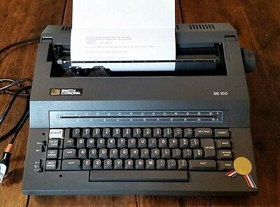 Smith Corona SE100 Electric Correction Word Eraser Typewriter Excellent Working!