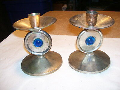 Pair of Vintage Silverplate Candle Holders