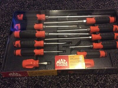 MAC TOOLS. 12 Piece Combination Screwdriver Set ORANGE and BLACK New And Sealed