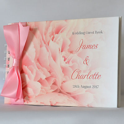Personalised Wedding Engagement Anniversary Couples Guest Book