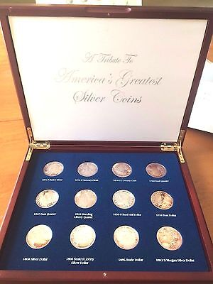 A Tribute to America's Greatest Silver Coins Set>.999 silver clad