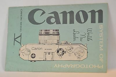 Canon V rangefinder Dealers brochure featuring VT IVS2 lenses accessories