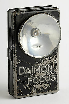 Alte Daimon Focus Taschenlampe. Vintage pocket light flashligh.