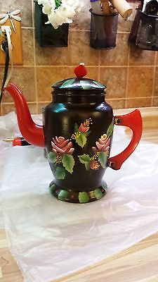 Hand painted Vintage Coffee Pot