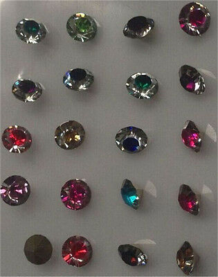 High quality 30Pcs8mm Color Crystal beads Point back Rhinestones Resin Chatons 1