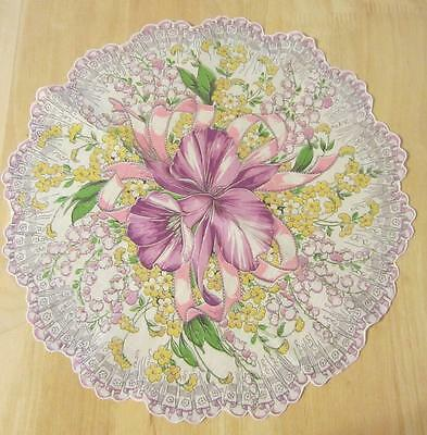 Beautiful Pink Purple Orchid Round Hanky Handkerchief