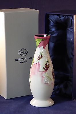 Old Tupton Ware Morning Orchid Flower Vase  16Cm Boxed - Tw6906