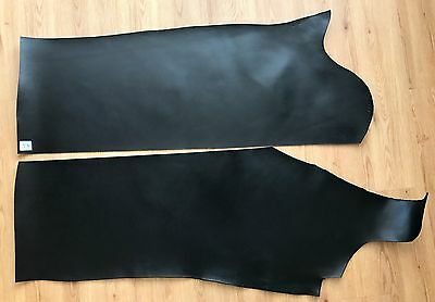 9.46sq ft BLACK LEATHER HIDE TOOLING COWHIDE BRIDLE 2.5mm thick T3