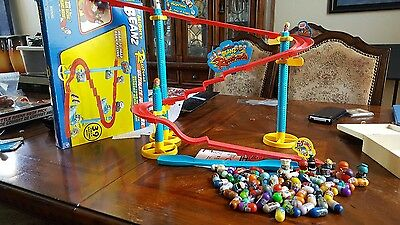 Mighty Beanz Ultimate Jump Park Racetrack and Lot of Beanz