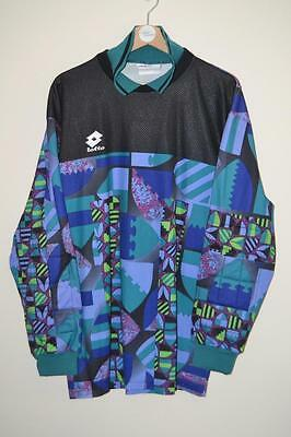 Vintage Lotto Multi Coloured Goalkeeper Shirt Large Mens