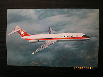 vintage air canada post card dc9 1960,s unused