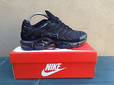 NIKE TUNED 1 / AIR MAX PLUS TRAINERS / BLACK  / All SIZES **BRAND NEW IN BOX**